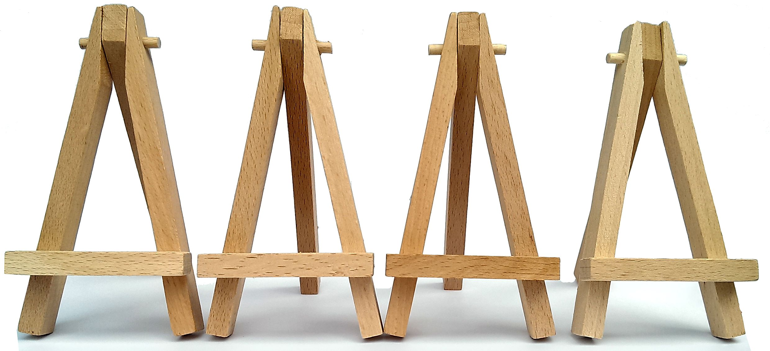 set of 10 mini easels beech wood 120mm high