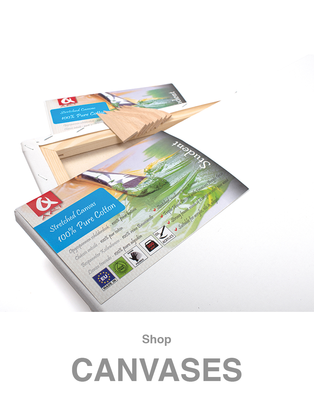 Stretched Canvases, Cotton Canvases, Linen Canvases, Canvas Boards, Canvas Panels